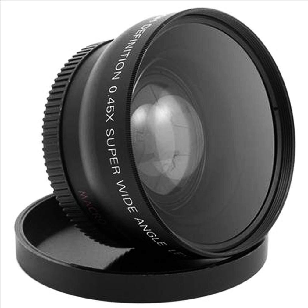 52MM 0.45 x lensa Wide Angle makro untuk D5200 D3100 Nikon d3200 atau D5100