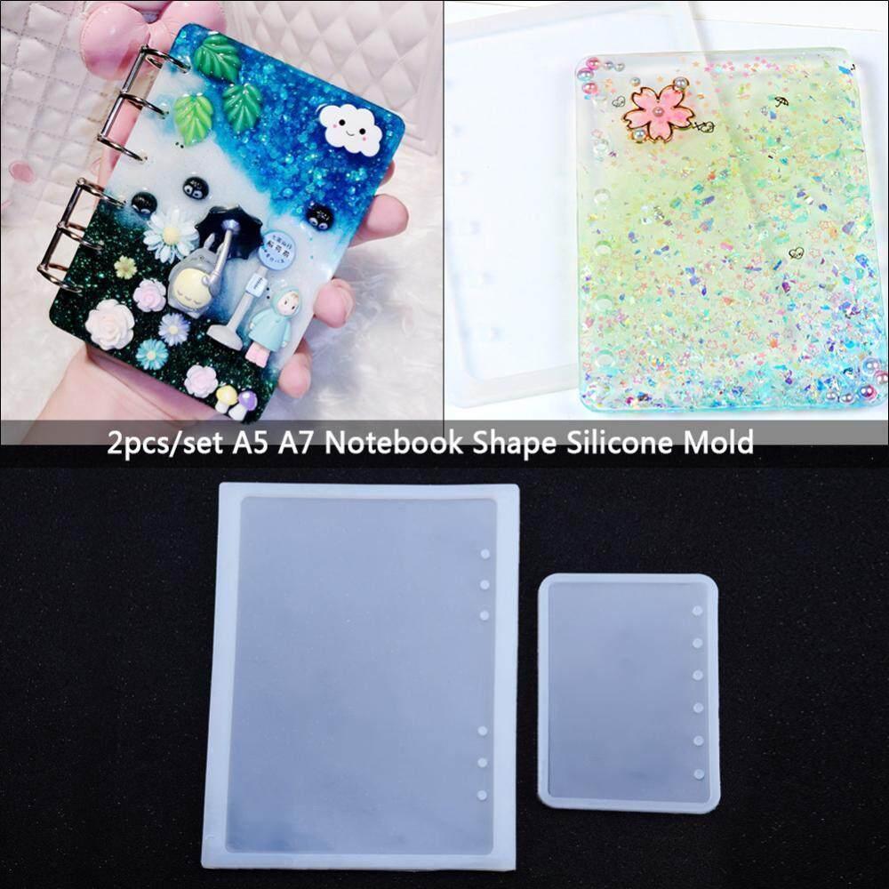 2 cái/bộ A5 A7 Xách Tay Hình Khuôn Silicon cho Diy Nhựa Dính Pha Lê Notepad Bao-quốc tế
