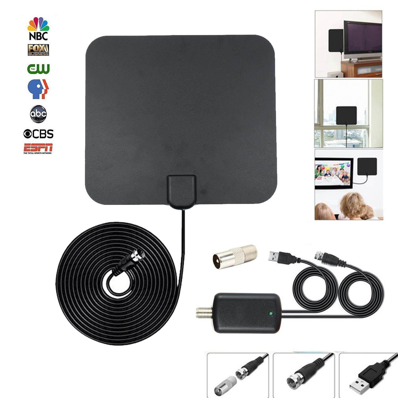 Kobwa เสาอากาศทีวีเสาอากาศ HDTV ในอาคารดิจิตอลขยาย 75 ไมล์ 4 พัน HD VHF UHF Freeview สำหรับชีวิตท้องถิ่นช่องออกอากาศสำหรับในบ้านได้ทุกชนิดสมาร์ททีวี - นานาชาติ