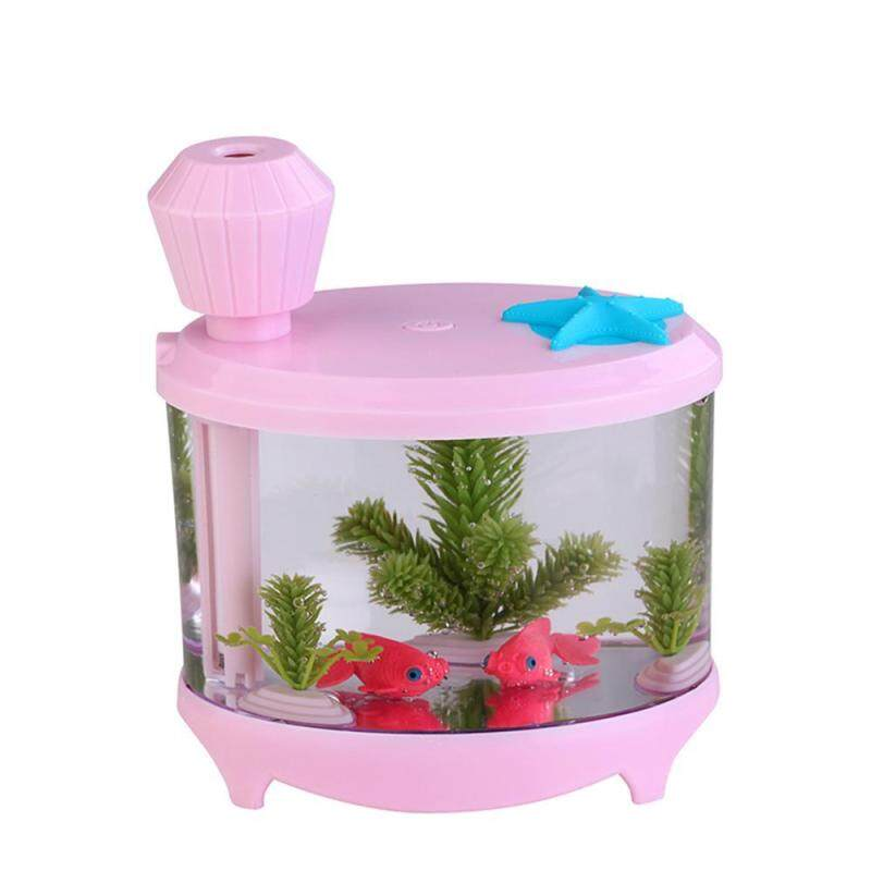 chechang 460ml USB Aromatherapy Essential Oil Diffuser, Portable Small Fish Tank Cool Mist Aroma Humidifier Air Purifier With 7 Cloor LED Lights And Timer For Office Home Kids Bedroom(Pink) Singapore