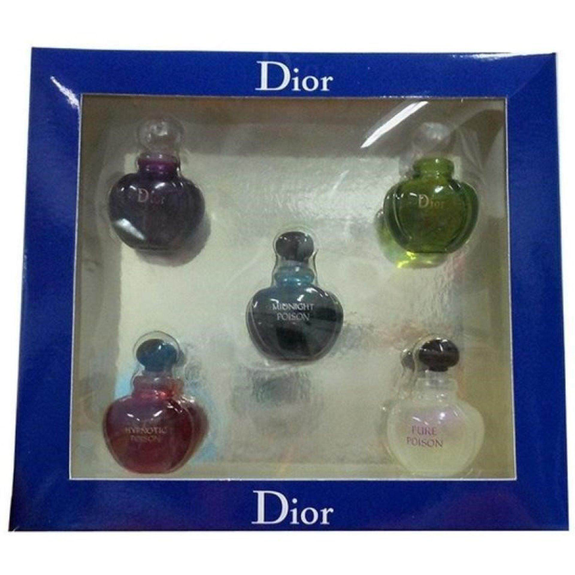 Christian Dior 5 in 1 Perfume Miniature Poison Set- Imported Sets (Clearance Way Way Below Cost )