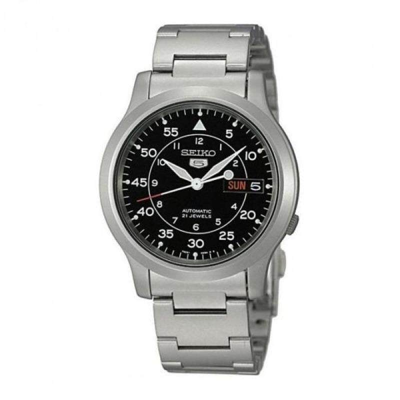 Seiko 5 Military SNK809K1 Automatic See-thru Back Stainless Steel Watch (Silver) Malaysia