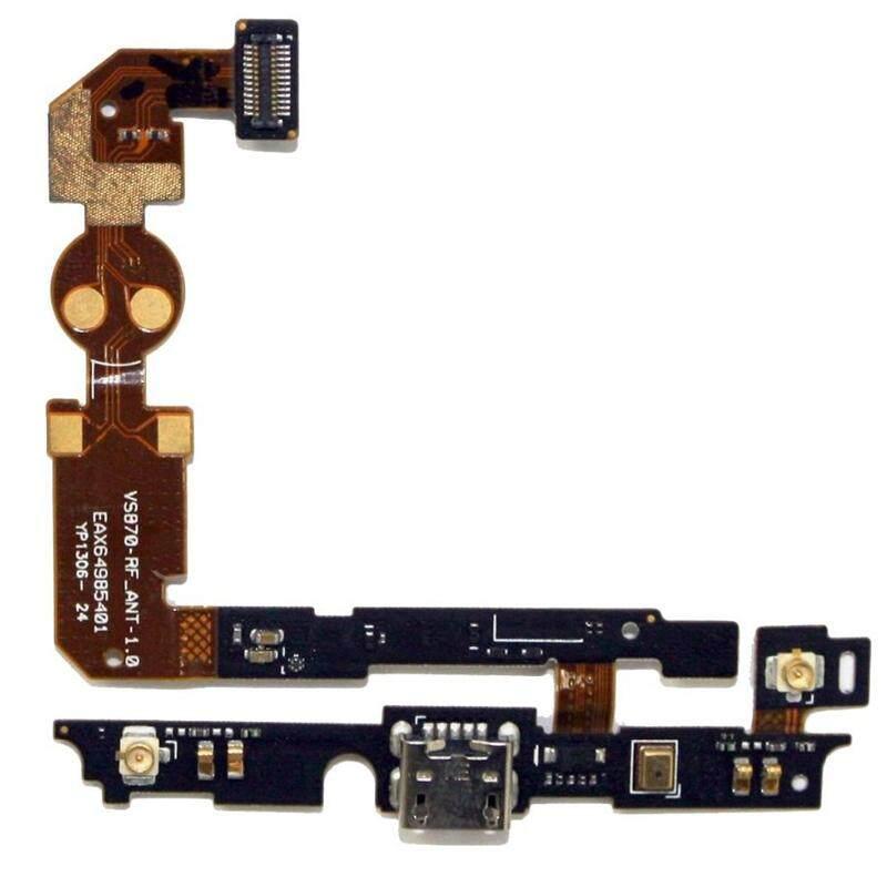 Ipartsbuy USB Pengisian Konektor Port Fleksibel Kabel & Mikrofon Fleksibel Kabel untuk LG Lucid 2/VS870-Internasional