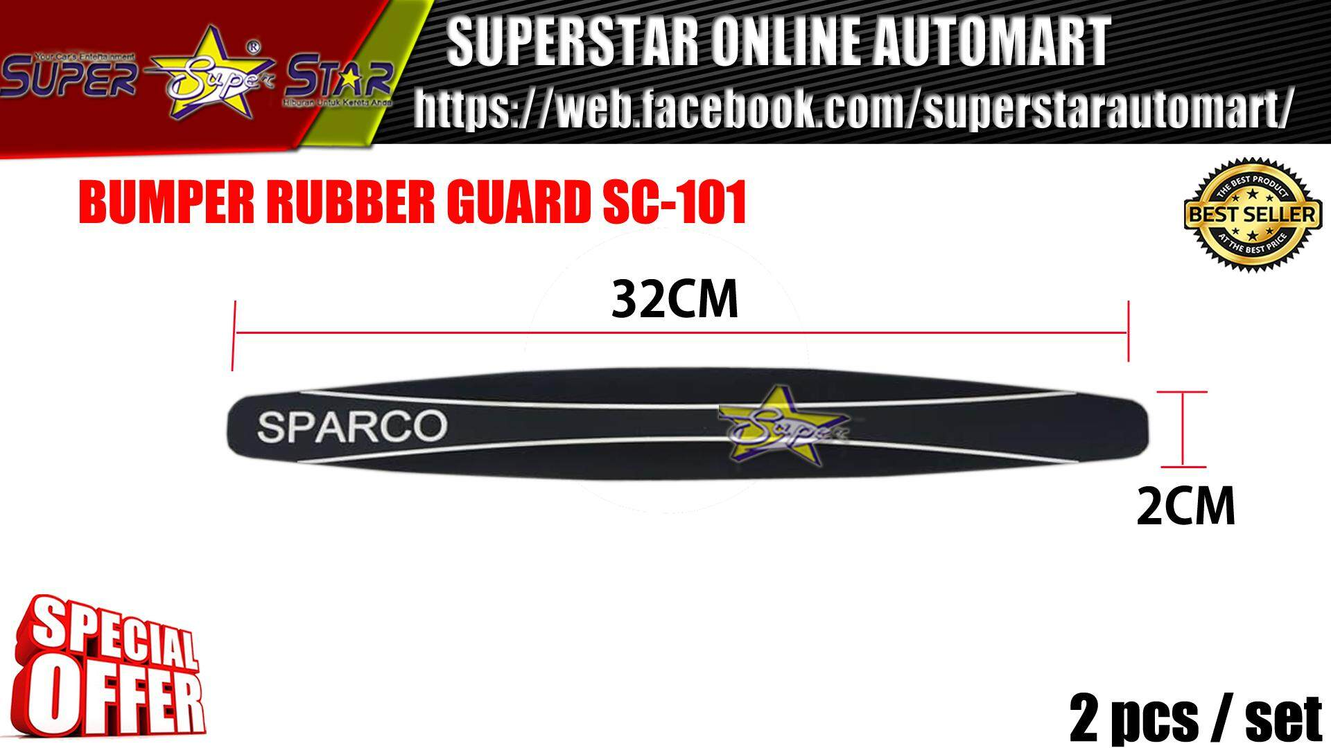 BUMPER RUBBER GUARD SPARCO (BLACK)