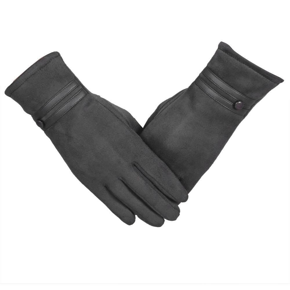 Sarung Tangan Wanita Musim Dingin Hangat Pergelangan Tangan Sarung Tangan Sarung Tangan Merah-Internasional
