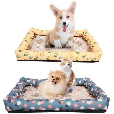 Summer Soft Cat Dog Bed House Pet Sleeping Bag (MULTI-B)