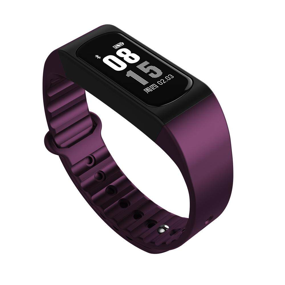 Hình ảnh KALOAD W4S 0.96 Inch OLED 2.5D Glass Body Temperature Heart Rate Remote Camera Smart Bracelet #purple - intl