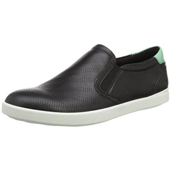 Ecco Footwear Womens Aimee Sport Slip-On Loafer, Black/Granite Green, 38