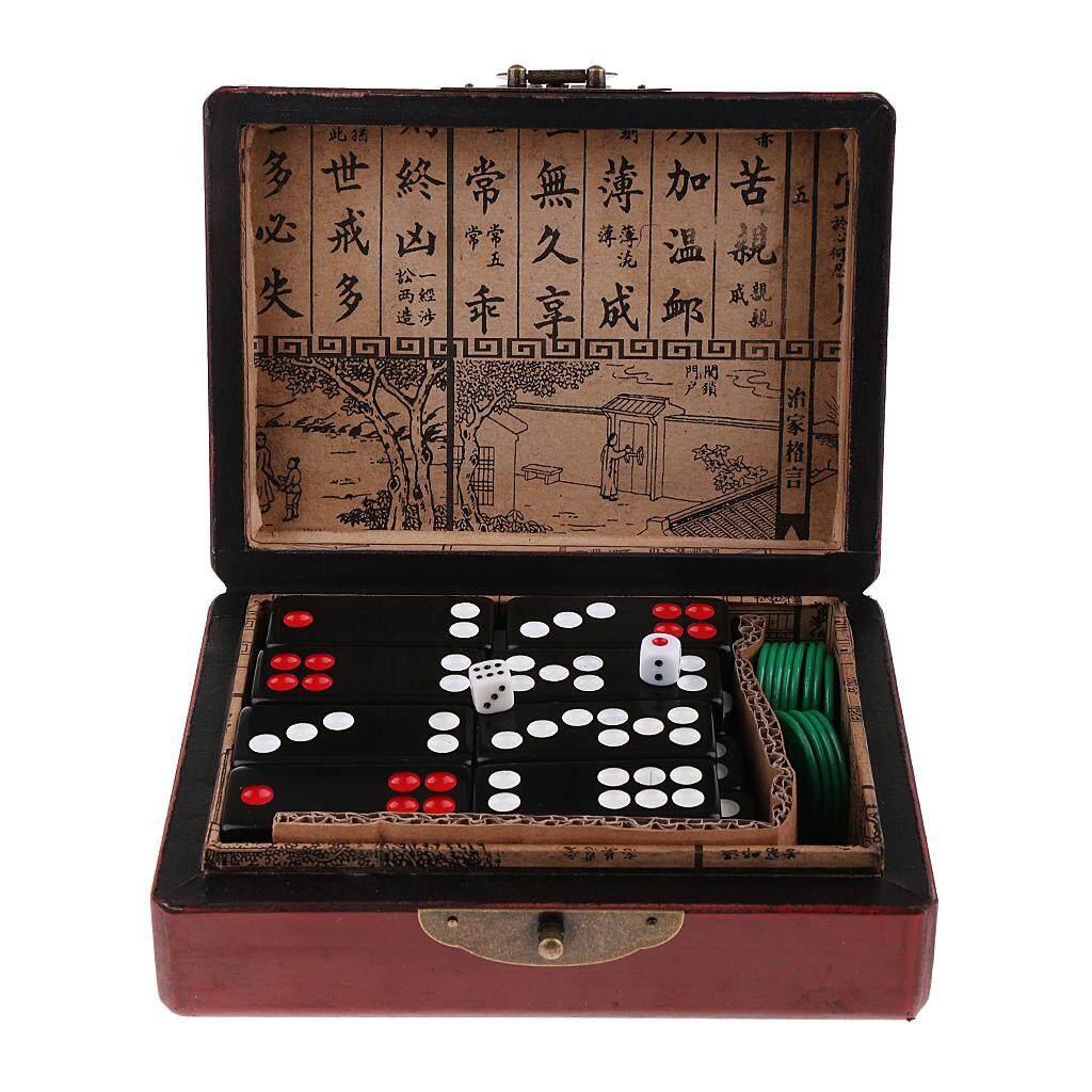Hình ảnh BolehDeals Trung Quốc Pai Gow Paigow Ốp Bộ Domino Casino Game Đảng Món Đồ Chơi Vui Nhộn cho Entertainemnt-quốc tế