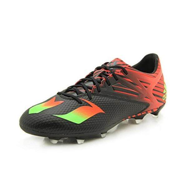 size 40 a7fac c5d60 adidas Performance Mens Messi 15.2 Soccer Shoe,Black Shock Green Solar Red,