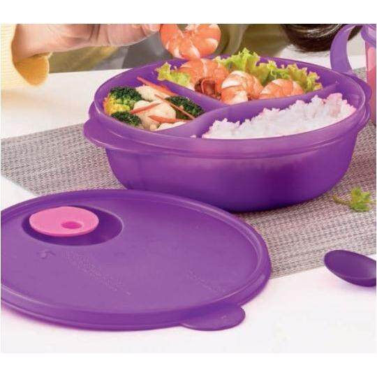 Sectioned Tupperware: Tupperware Crystalwave Divided Dish (1) 900ml