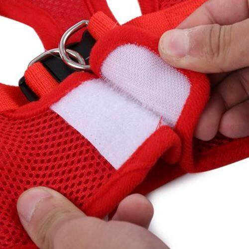TAILUP PET DOG SOFT MESH WALKING COLLAR STRAP VEST APPAREL (RED)