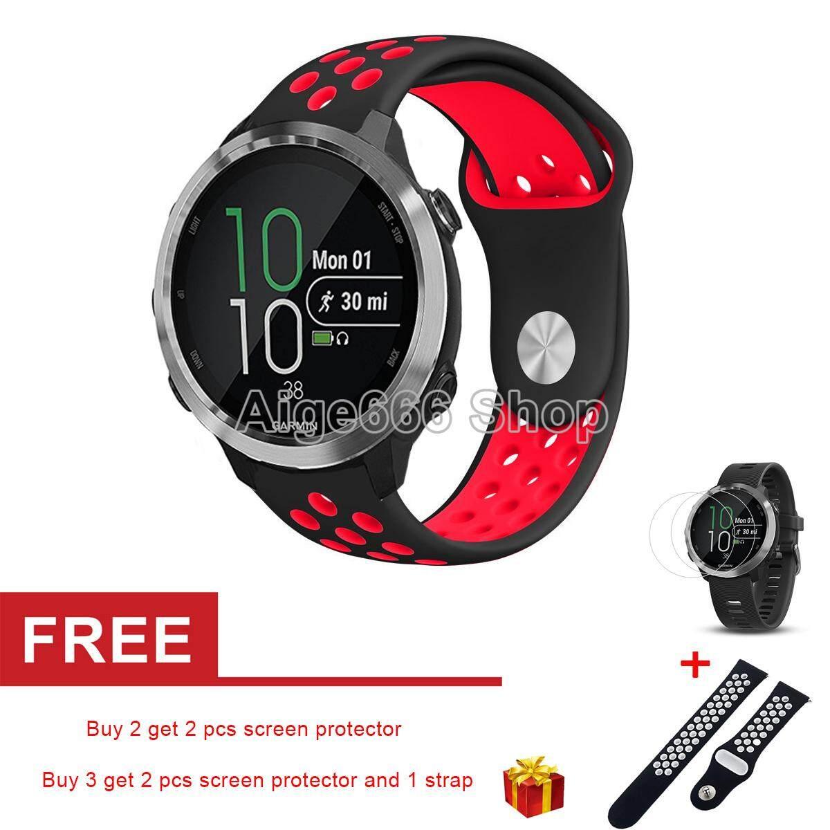 Soft Silicone Band Strap for Garmin Forerunner 645 Smart Watch