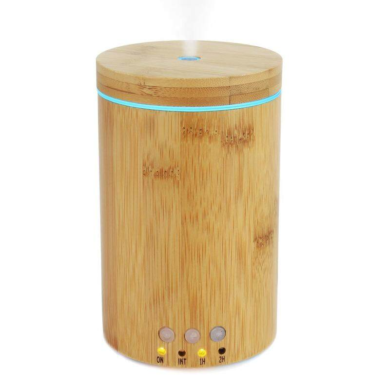 binwu (UKplug)Natural Real Bamboo Essential Oil Diffuser 150ml Ultrasonic Aromatherapy Diffusers With 7 LED Lights And Waterless Auto Shut-off For Home Office Spa Singapore
