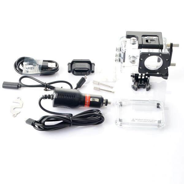 Original Waterproof Case + Car Charger For Sports Camera SJCAM SJ4000 SJ4000 WIFI SJ4000 Plus On Motorcycle - intl