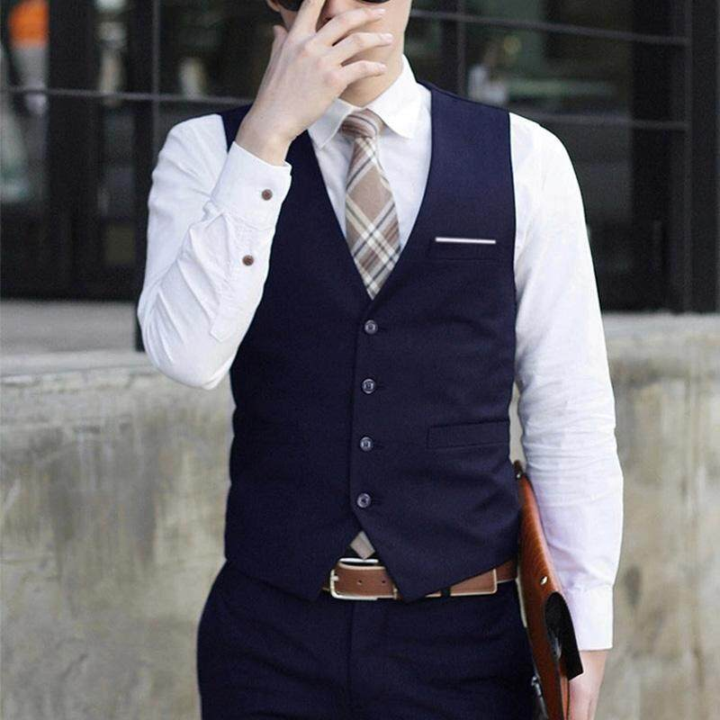 Ishowmall Men Dress Vest Slim Fit Mens Suit Vest Male Waistcoat By Ishowmall.