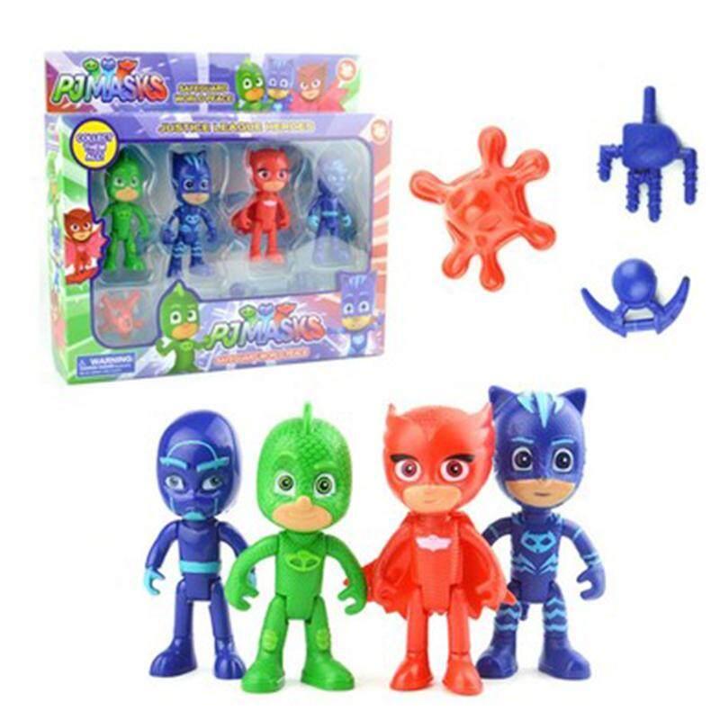 Price Comparisons Of Egc 4Pcs Lot Pj Cartoon Mask Characters Catboy Owlette Gekko Cloakaction Figure Toys Boy Birthday Gift Plastic Dolls Intl