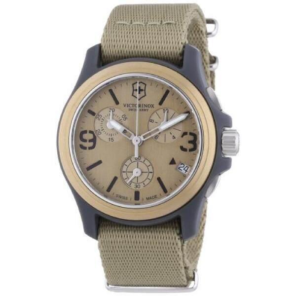 Victorinox Swiss Army Unisex 241533 Original Chronograph Beige Nylon Strap Watch - intl