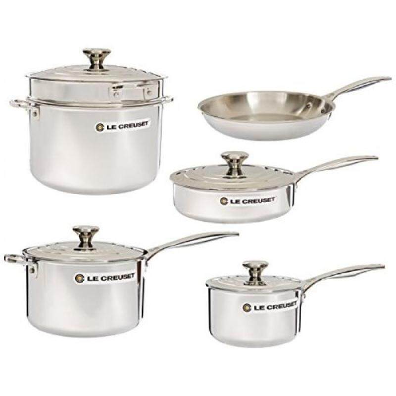 Le Creuset 10-Piece Tri-Ply Stainless Steel Cookware Set - intl Singapore