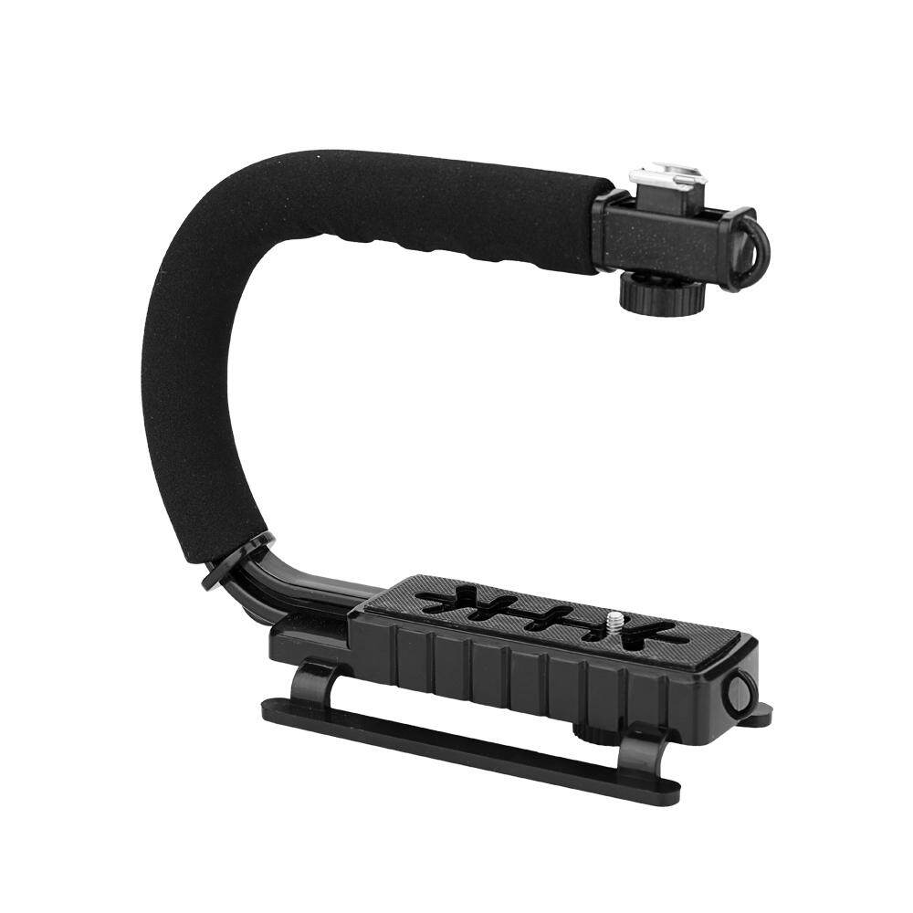 Black Camera Holder DV Video Shooting Bracket Handheld C-Shaped Stands Support Filming Stabilizing Handle - intl