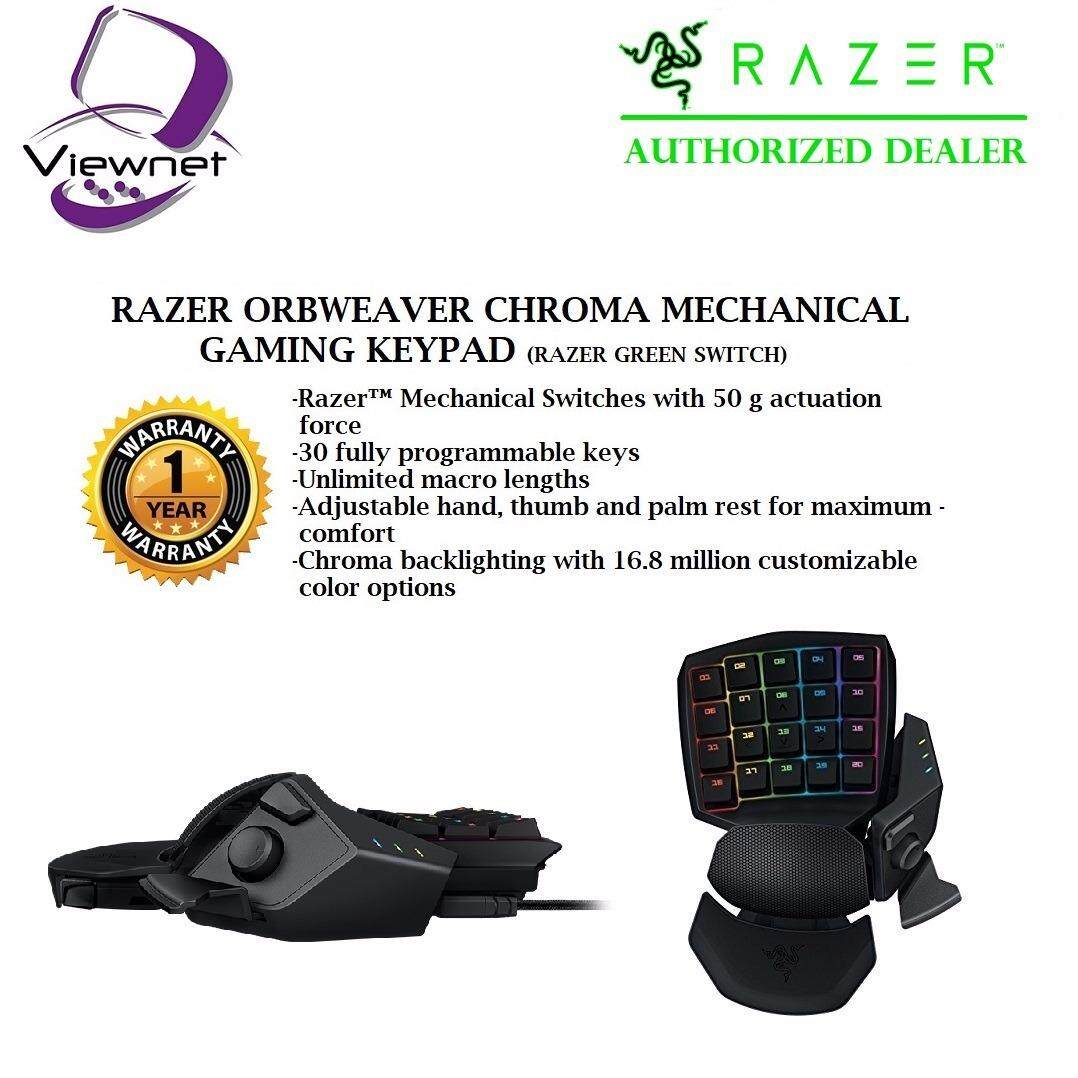 Genuine Razer Orbweaver Chroma Mechanical Gaming Keypad Rz07 01440100 R3m1 Malaysia Turret Living Room Mouse And Lapboard Rz84 01330100 B3a1