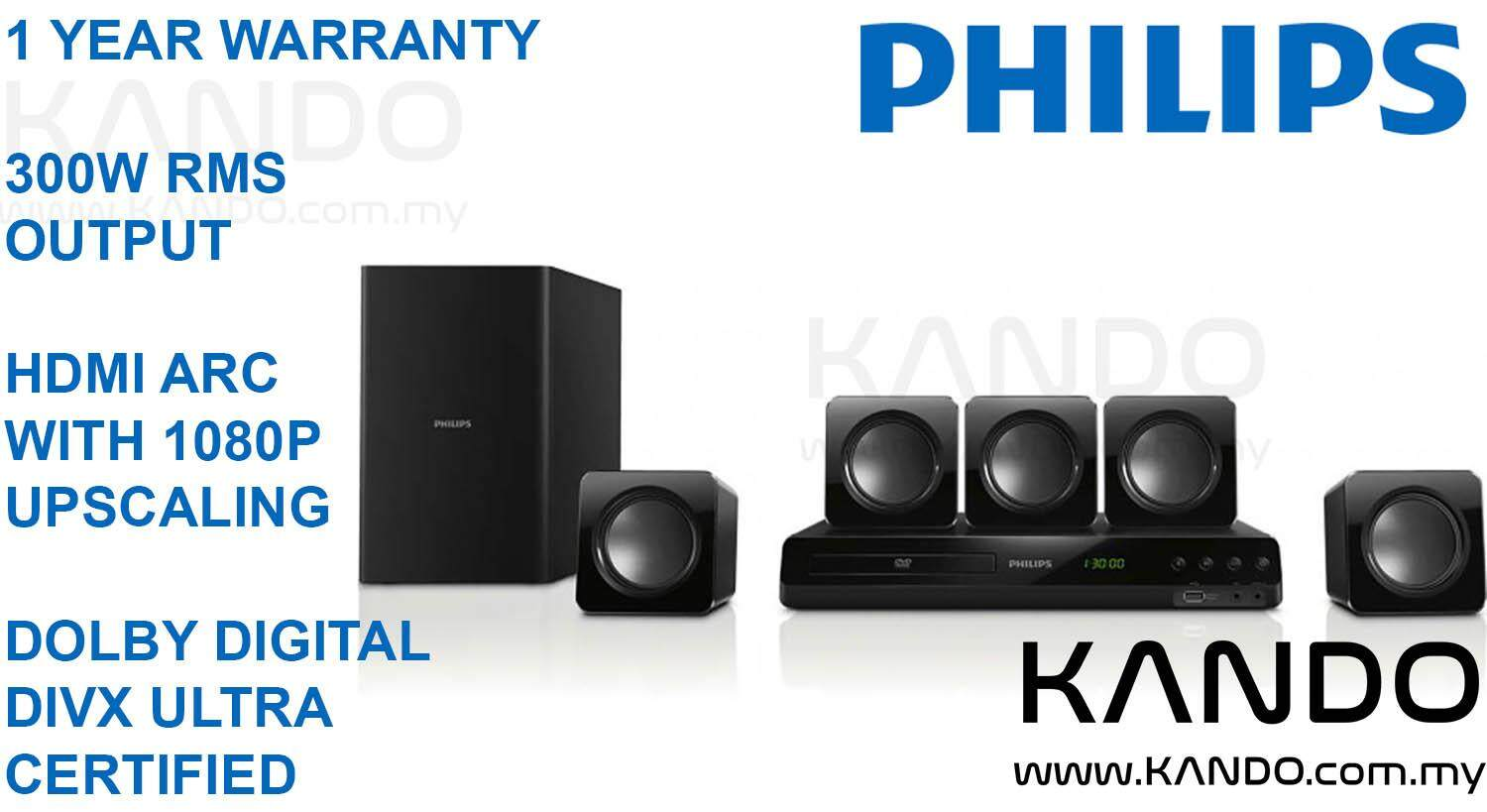 Philips 5.1 Home Theater System Philips HTD3509/98 DVD 5.1 Home Theater System 5.1 Channel Amplifier DVD Player DIVX Player DOLBY Player USB Player soundbar