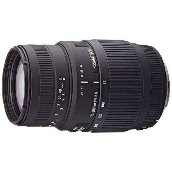 SIGMA 70-300 Mm F/4-5.6 DG Macro Telephoto Zoom Lensa untuk Canon SLR- versi Internasional (TANPA JAMINAN) -Internasional