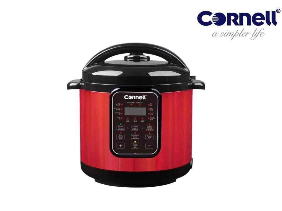 Cornell CPC-E60C Non-stick Ceramic Coating Pot Pressure Cooker – Free Stainless steel Steam rack
