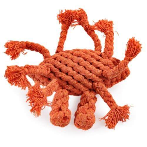 DURABLE CHEW CRAB COTTON KNOT PET ROPE TOY FOR DOG (COLORMIX)