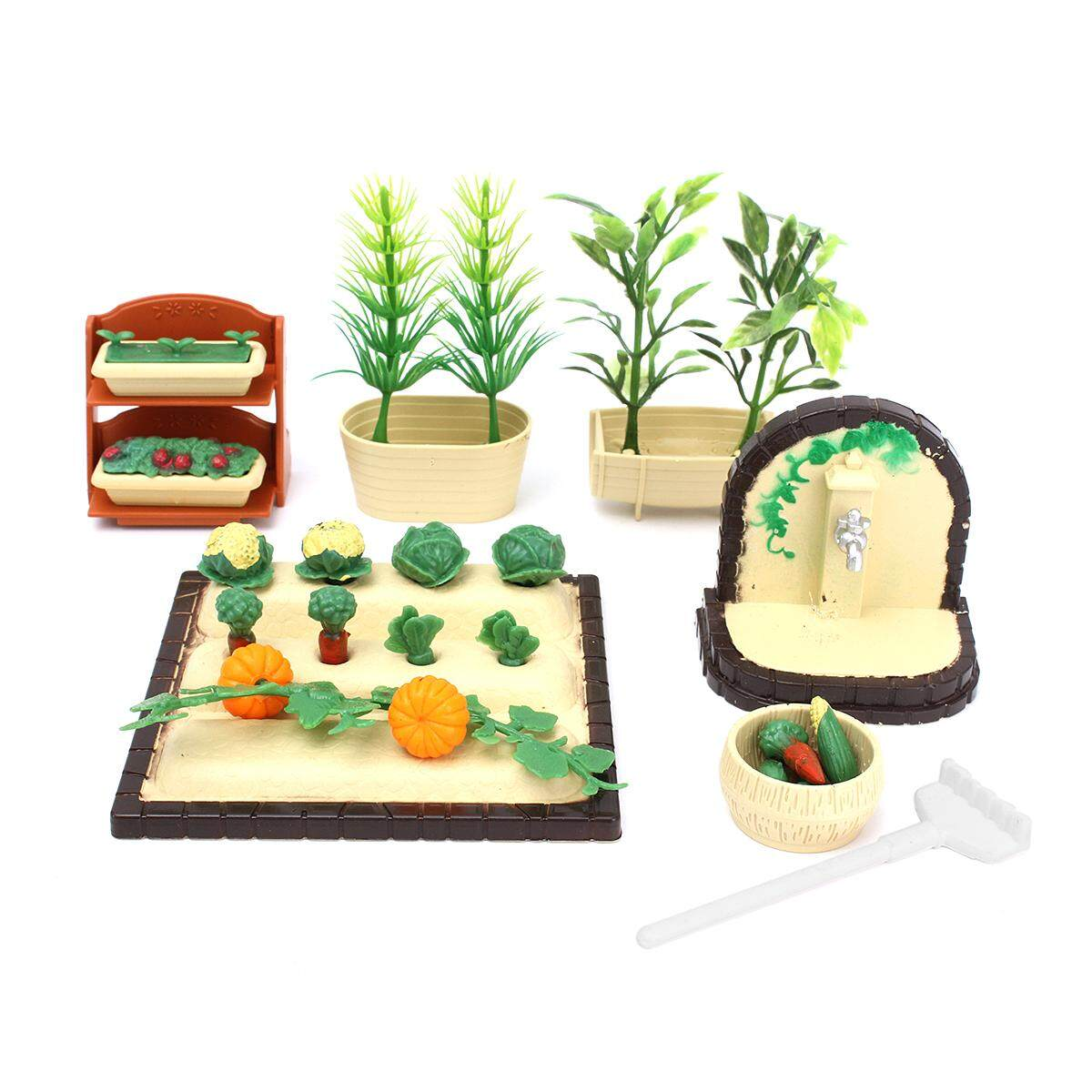 Miniature Gardening Vegetables DollHouse Furniture Outdoor Accessory Play Set - intl