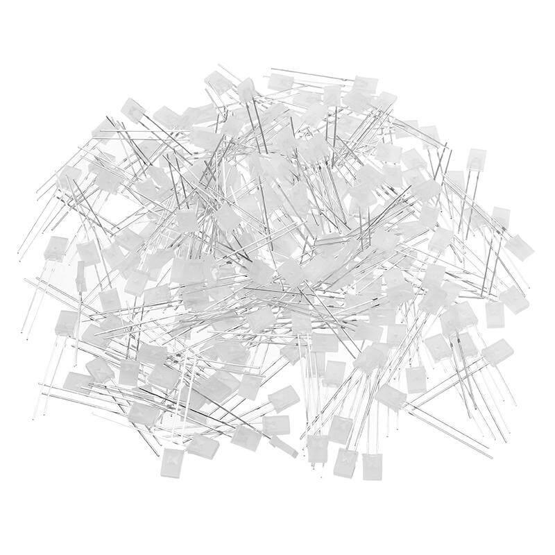 200 Pcs 2X5X7 MM Kabut Biru 2X5X7 MM Persegi Biru Ringan LED ringan Emitting Dioda Ringan Cube Berdedikasi-Internasional