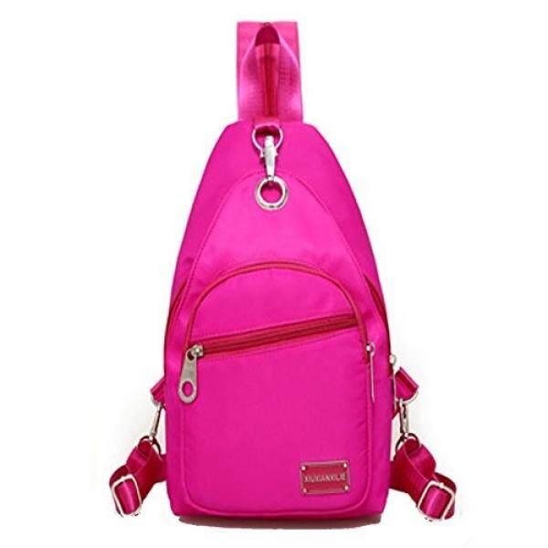 Lustear Sling Bag For Men & Women Crossbody Backpack (Pink) - intl