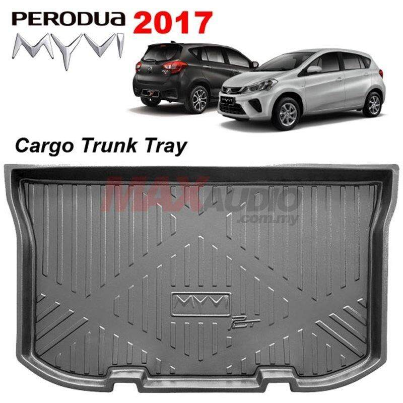 PERODUA MYVI 2017 - 2018 ORIGINAL ABS Rubber Anti Non Slip Rear Trunk Boot Cargo Tray Made in Malaysia