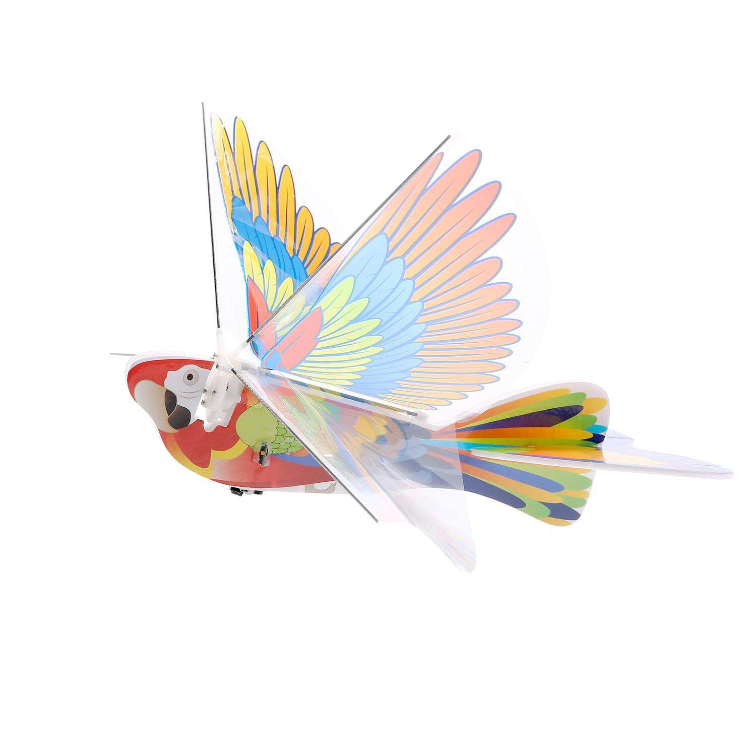 leegoal Parrot Electric Motor Paper Airplane Model Outdoor Play DIY Power Up Flying Plane