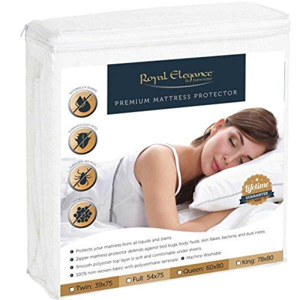 Deluxe Collection Premium Bed Bugs Mattress Protector - Hypoallergenic Protector for Allergen & Bed Bug Pest Control - QUEEN Size