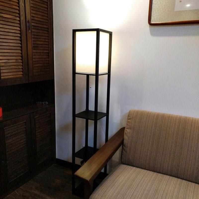Wooden Floor Lamp Modern Minimalist Living Room Light Bedroom Bedside Lamp 160cm Height Standing Lamp For Living Room - intl