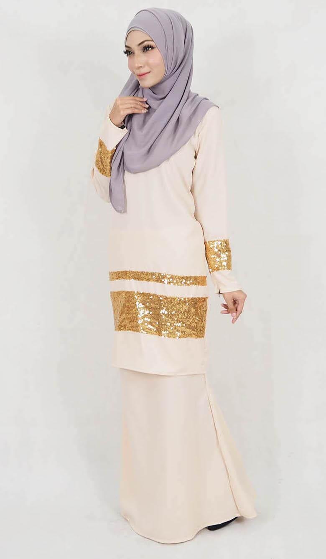 Muslim Women Fashion Baju Kurung / Muslimaah Fashion Baju Kurung / Zafiya Sequin Baju Kurung (XXL-5XL)
