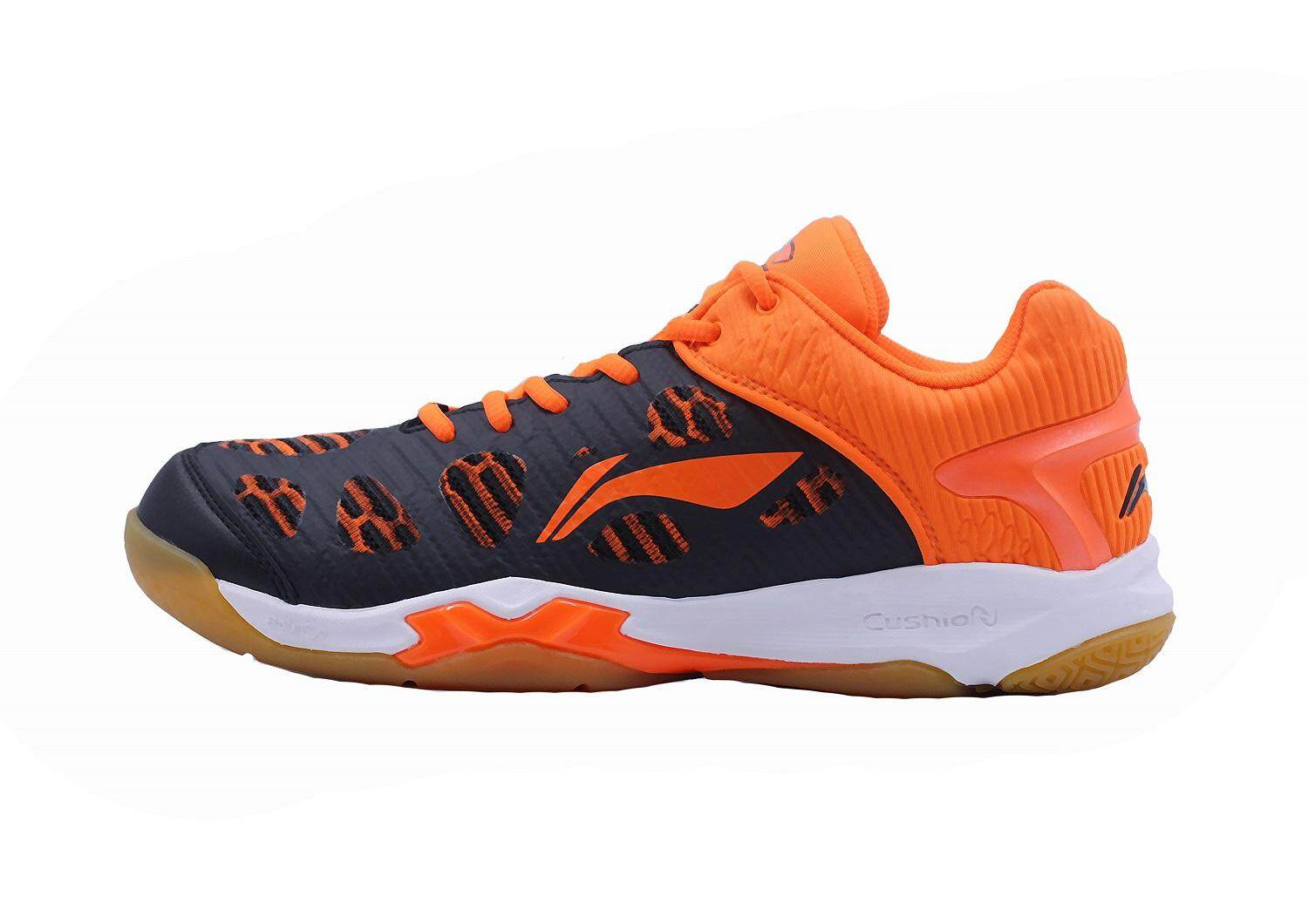 Li-Ning Ranger Badminton Training Shoes - Black/Orange AYTM115-3