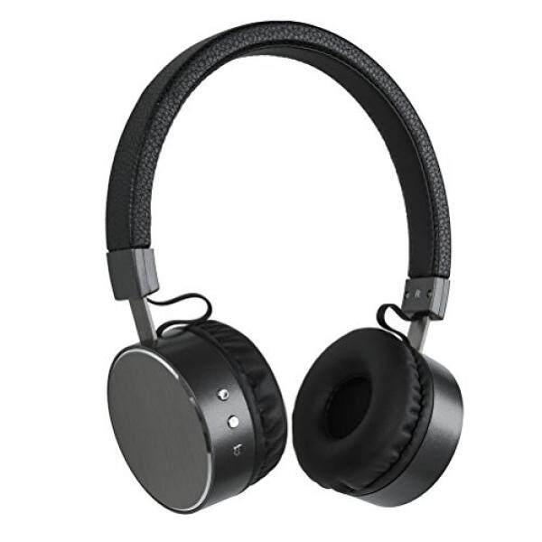 Wireless Stereo Bluetooth Headphones with MIC,Jeselry V4.2 Heavy Bass Wireless Headsets on ear,Metal Wireless headphones and Wred Mode for iPhone / iPad / Samsung /HUAWEI - Black - intl