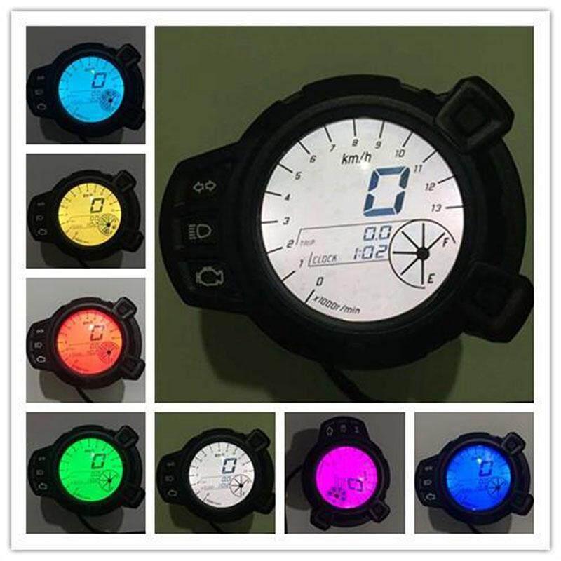 DX Instrumen Sepeda Motor 10000 Rmp Spedometer LCD Tachometer untuk Yamaha BWS125 Gaya: B2909