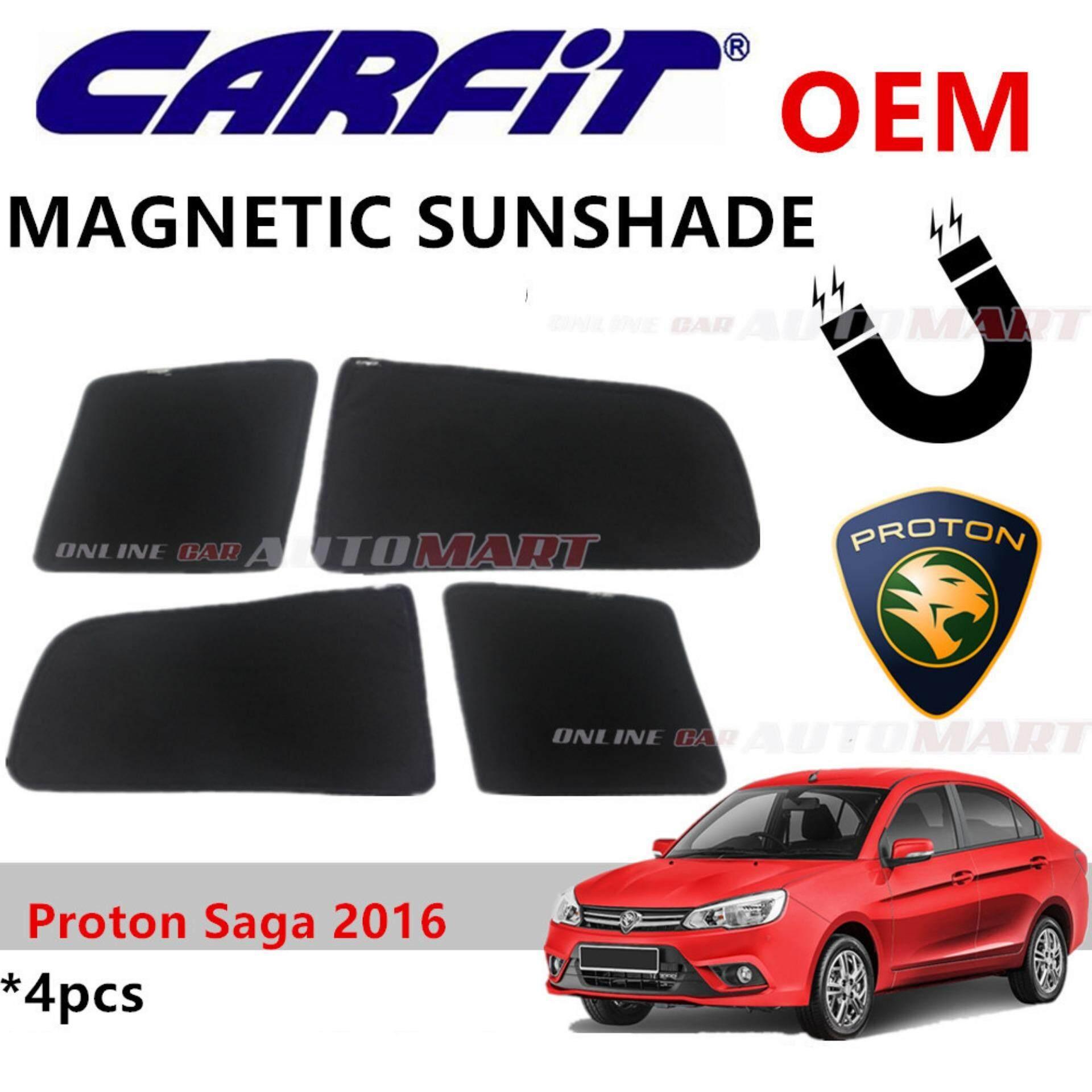 CARFIT OEM Magnetic Custom Fit Sunshade For Proton Saga Yr 2016 (4pcs Sets)