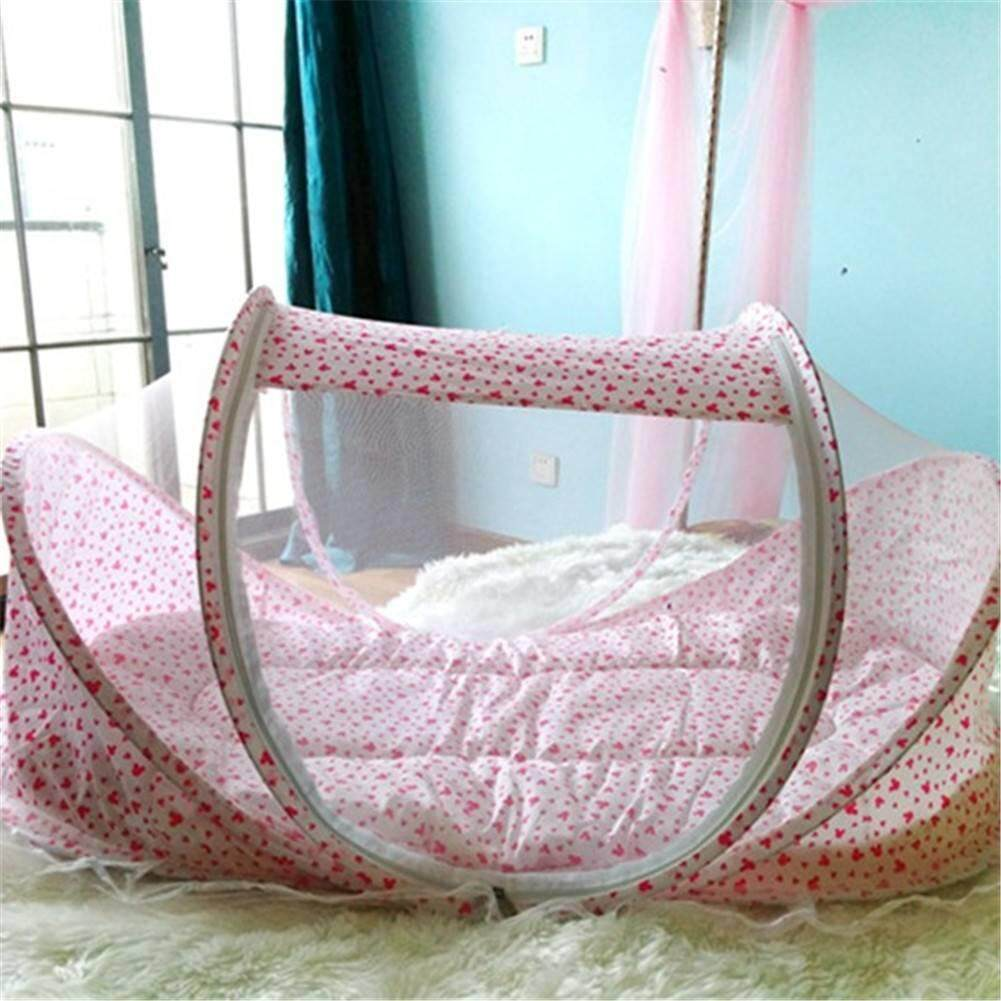 Cute Baby Crib Portable Comfortable Babies Pad With Sealed Mosquito Net - Intl By Trait-Tech Trade Center.