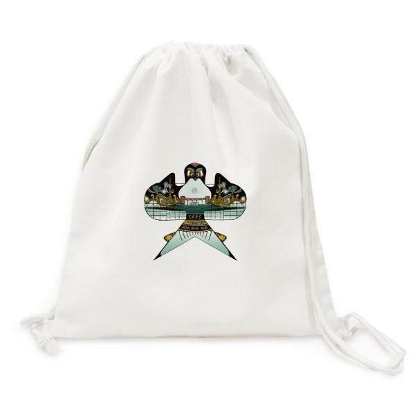 Kite Chinese Traditional Culture Pattern Canvas Drawstring Backpack Travel Shopping Bags - intl