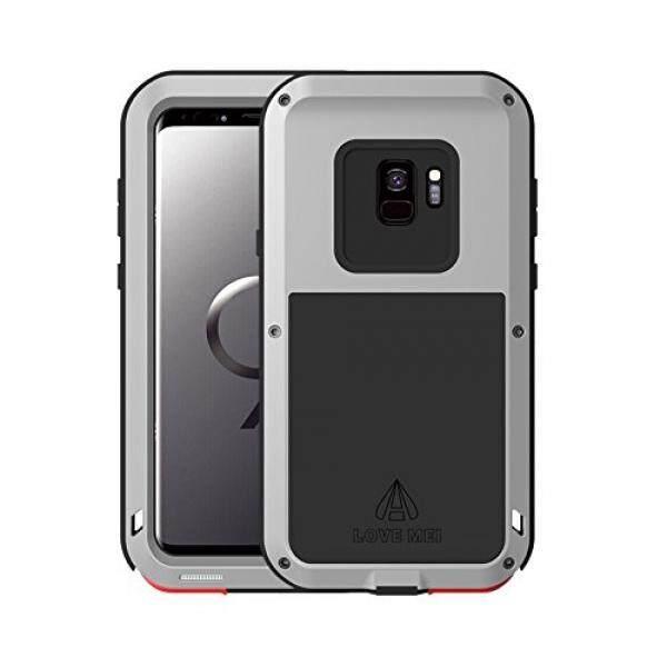 Samsung Galaksi S9 Case, bpowe Super Anti Guncangan Silikon Aluminium Logam Pelindung Tangki Tugas Berat Kokoh Pelindung Sarung Keras Case untuk Samsung Galaksi S9 5.8 inci (Perak) -Internasional