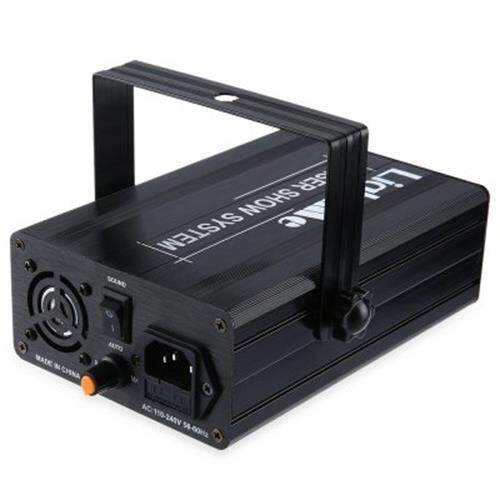 LIGHTME FULL COLOR 3 LENS 24 PATTERNS RGB LASER PROJECTO STAGE LIGHT WITH REMOTE CONTROLLER (BLACK)