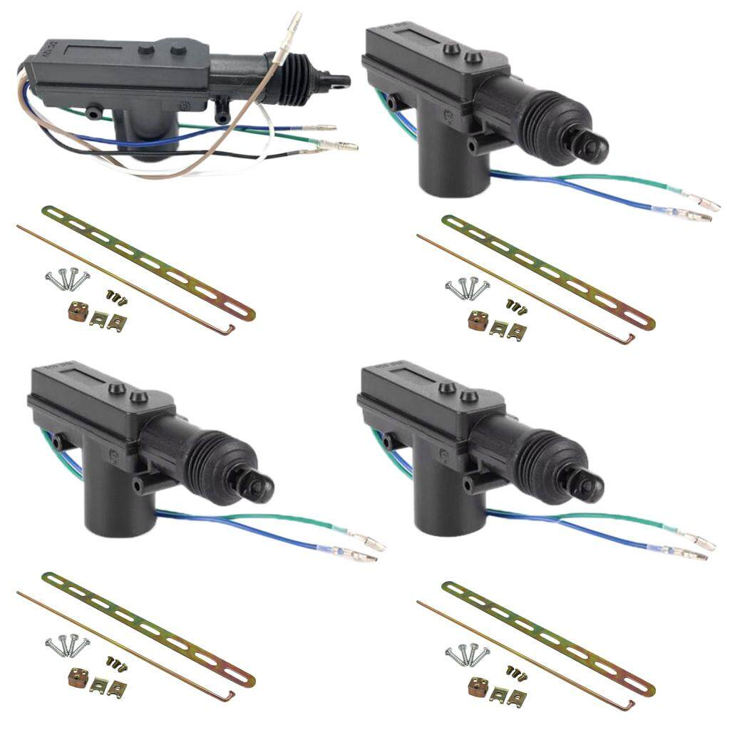 The Price Of Auto Car Vehicles Locking System 2 Wire Power Door Lock Actuator Wiring Miracle Shining Plug And Play 4pcs 5 Wires 12v