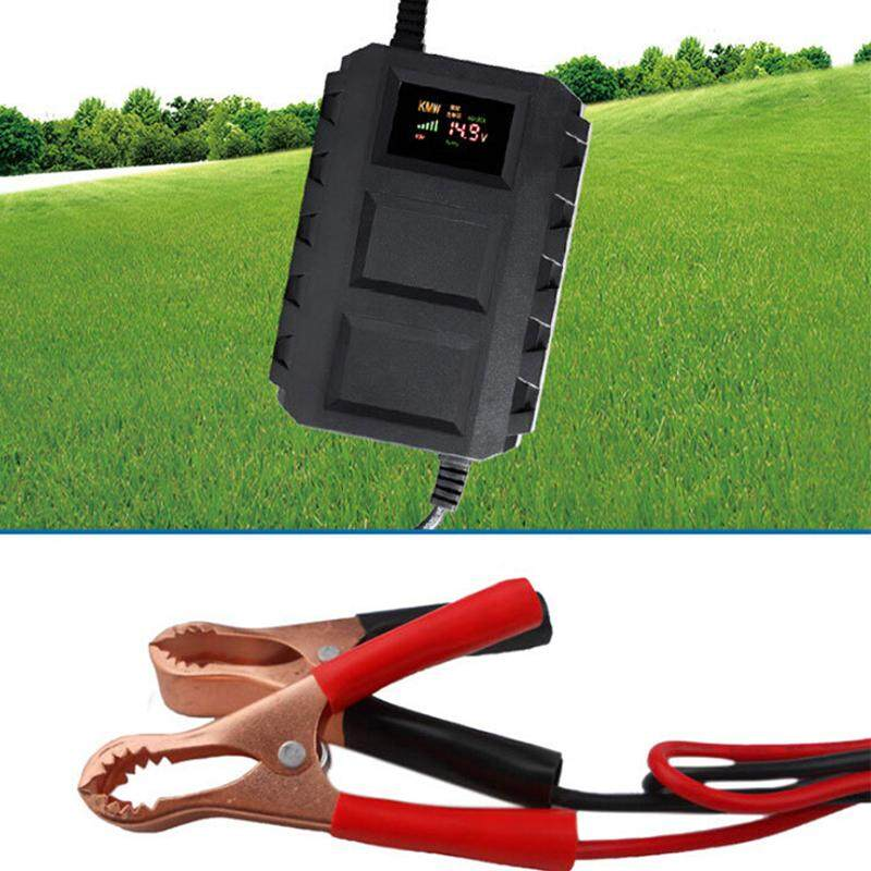 Hiqueen 12V Smart Lead-acid Storage Battery Charger Intelligent Recharger for Motorcycle Car Models:U.S. regulations