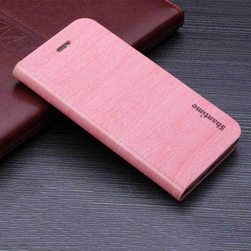 Kayu Kasus Telepon untuk BBK Vivo V7 Plus Casing Kulit Butir Kayu Lipat Sarung Untuk BBK Vivo Y79 Antik Dompet tas Ponsel-Internasional