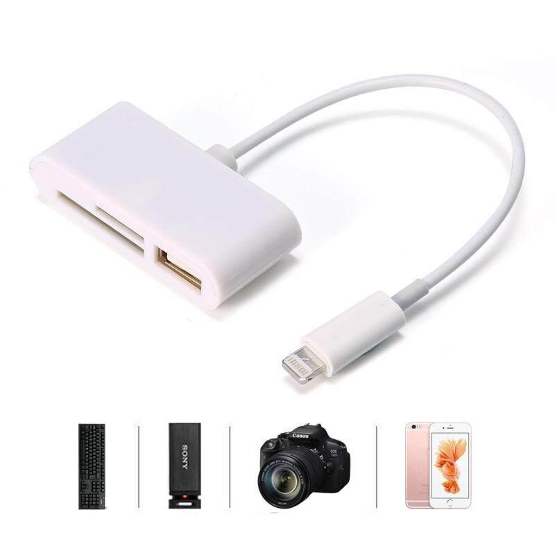 Bảng giá Kobwa Lightning Đầu Đọc Thẻ SD/TF, 3 Trong 1 Lightning To USB Camera Kết Nối Bộ, lightning To USB 2.0 Female OTG Adapter (Trắng)-quốc tế Phong Vũ