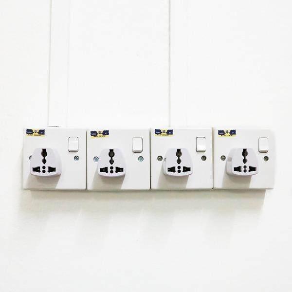 (2 Pcs) UK 3 Pin Travel Universal Plug Socket Adapter